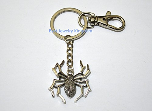 Creepy Crawlies Costume Ideas (Spider Keychain, Spider Charm Keychain, Spider Charm, Insect Jewelry, Best Friends Keychain, Best Friends Jewelry, BFF Keychain)