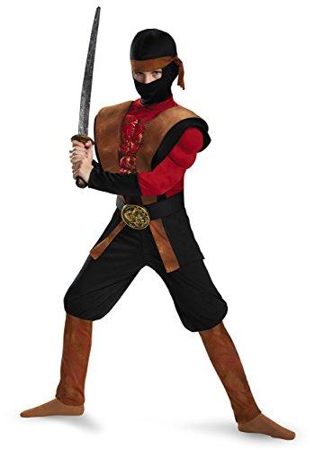 [Ninja Warrior Muscle Costume, Small (4-6)] (Muscle Ninja Warrior Costume)
