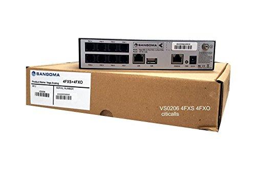 Sangoma Vega VS0206 60G-0404 4 Port FXS 4 Port FXO SIP T.38 Analog VoIP Gateway