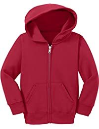 Precious Cargo unisex-baby Full Zip Hooded Sweatshirt 4T Red