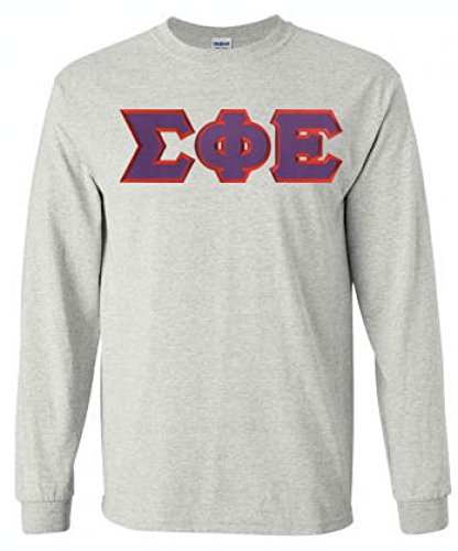 Sigma Phi Epsilon Lettered Long Sleeve Small Light Grey