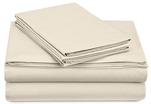 Pinzon 300-Thread-Count Percale Sheet Set -  Full, Ivory ()