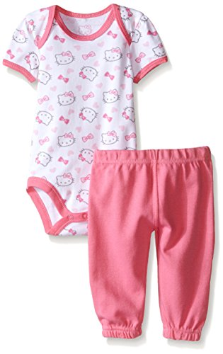 Hello Kitty Baby Girls' 2pc Top and Pant Set, Pink Carnation, 6-9 Months