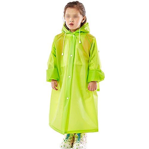 Impermeabile Verde disponibili Copertura pioggia Gril antipioggia colori Cappuccio ZZHF 5 viaggio da pioggia e per da yuyi Ragazzo con Abbigliamento zaino lunga a cappuccio Co bambini Poncho Per fpwA4