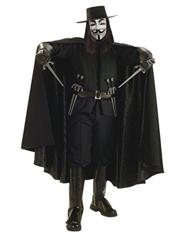 V Costumes Vendetta For Kids For (V for Vendetta Grand Heritage Collection Deluxe V Costume, Black,)