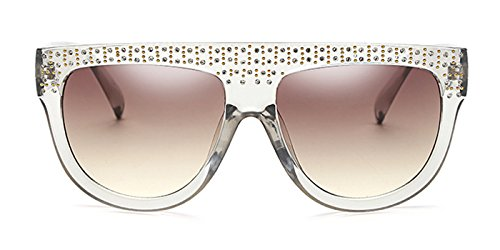 Slocyclub Shades Flat Top Square Aviator Frame Women - Top Flat Shades