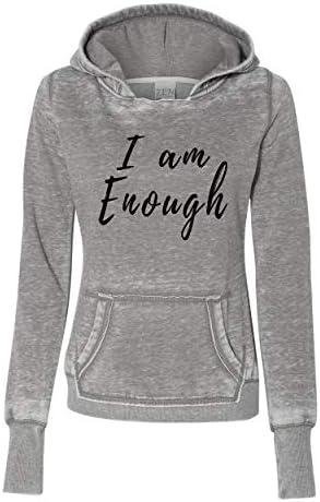 I Am Enough Ladies Zen Pullover Fleece Hoodie