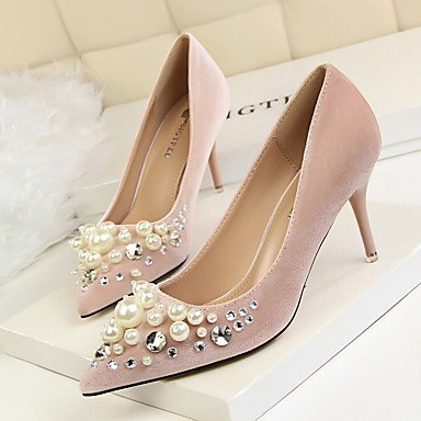 Gray Almond Dress Black Red UK6 Green EU39 Pearl Comfort CN39 Pink Microfibre Burgundy FYios Stiletto US8 Fall Women'sHeels Heel wc6TIxq87g
