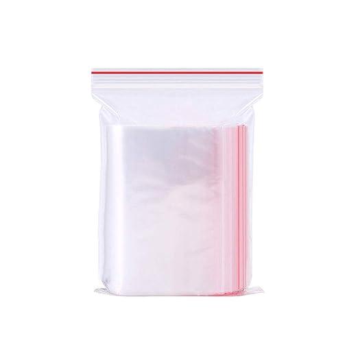 HeiHy 100 Bolsas de plástico Transparente resellables para ...