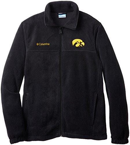 Mens Full Zip Fleece Flanker - NCAA Iowa Hawkeyes Men's Collegiate Flanker II Full Zip Fleece Sweater, Black, X-Large