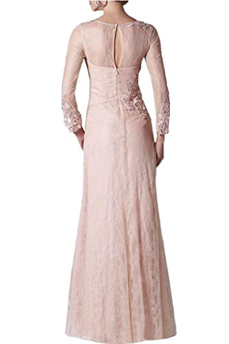 Dress Avril Charmeuse Pink Square Ruched Lace Applique Sleeve Prom Long Evening Dress gfw7qxdSf6