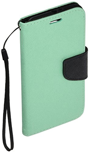 Pear Faceplate (HR Wireless Samsung Galaxy S6 - Premium PU Leather Flip Wallet Credit Card Cover - Carrying Case - Retail Packaging - Teal)