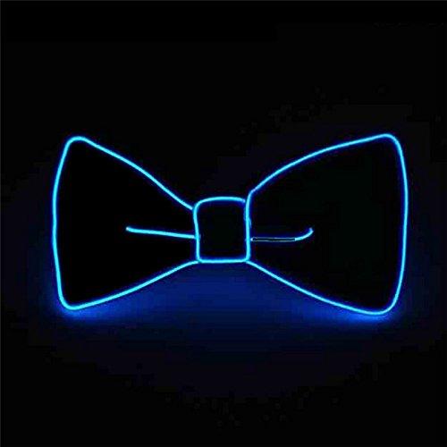 Pajarita luminosa neón con luces led azul electrico