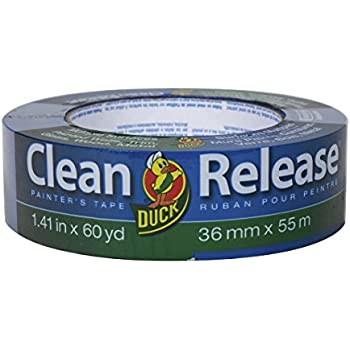 Duck Clean Release Blue Painter's Tape, 1.5-Inch (1.41-Inch x 60-Yard), Single Roll, 240194