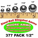 "377 pack 1/2"" Steel-Ball slingshot ammo (7 lbs)"