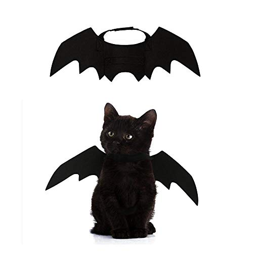 (FOONEE Hallowen Pet Clothes, Pet Cat Costume Bat Wings Halloween Party Dress for Puppy and)