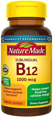 Vitamins & Supplements: Nature Made Sublingual B12 Micro-Lozenges