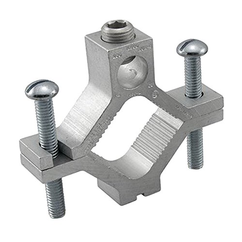 Ilsco AGC-2 Aluminum Alloy Dual Rated Ground Clamp 1-1/4 - 2 Inch 250 KCMIL-6 AWG