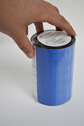 Direct Thermal Transfer Ribbon - 4.02 in X 984 ft - Black - Resin Enhanced Wax Ribbon with CleanStart Leader (1) (Ribbon Transfer Wax Thermal)