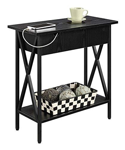 Convenience Concepts Tucson, Electric Flip Top Table, Black
