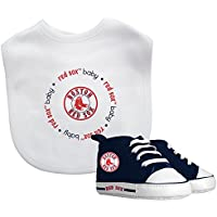 fan products of Baby Fanatic - MLB Velcro Closure Bib and High Top Pre-Walker Set, Boston Red Sox