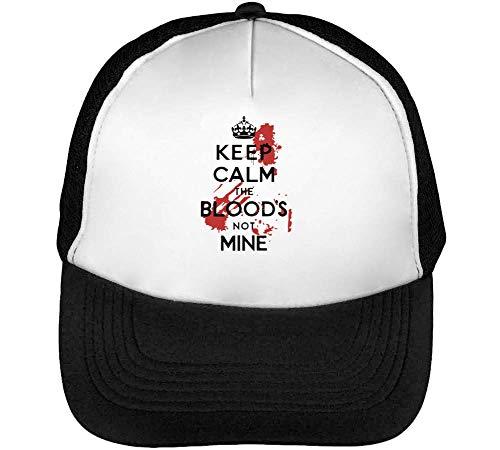 Not Blood'S Snapback Keep The Hombre Gorras Beisbol Mine Calm Negro Blanco qEtwfxp