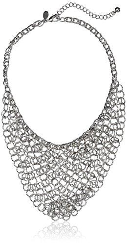 "1928 Jewelry Trend"" Silver-Tone Chain Link Bib Strand Nec..."