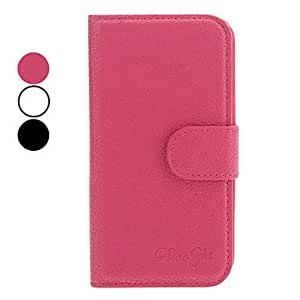 PEACH ships in 48 hours Rock Grain PU Leather Case with Stand and Card Slot for Samsung Galaxy S4 I9500 (Assorted Colors)