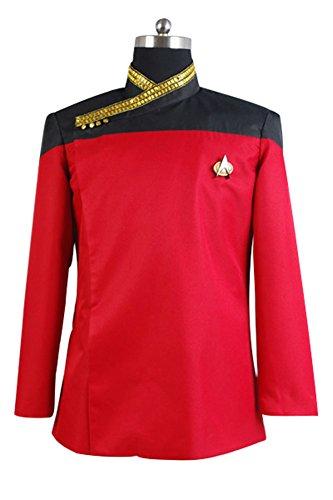 [Star Trek TNG Picard Dress Uniform Costume Red US Size X-Large] (Red Star Trek Dress)