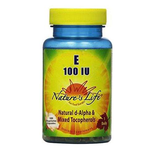 Nature's Life E, D-Alpha and Mixed Tocopherols Softgels, 100 IU, 100 Count