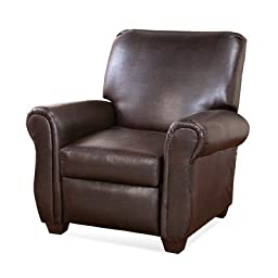 Leather Recliner in Marshall Walnut Black by Alcott Hill