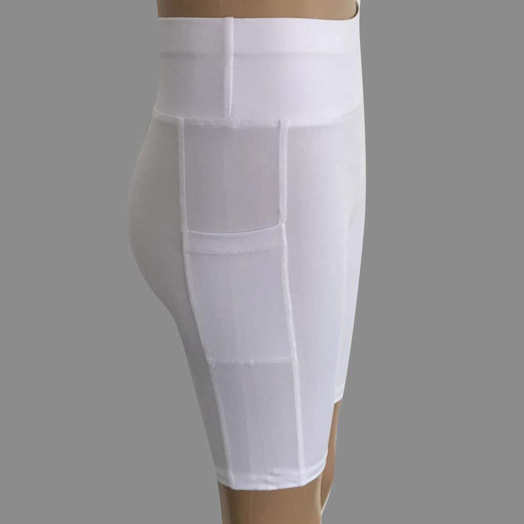 Pantalones Cortos, YpingLonk Color Sólido Mujer Pantalon de Yoga ...