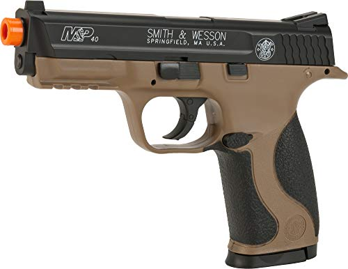 Evike Smith and Wesson M&P40 CO2 Powered Non-Blowback Airsoft Pistol (Color: Tan/Black) ()