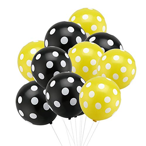 (zorpia 50 Pack 12inch Black Yellow Bee Party Decoration Balloons Backdrop for Bumblebee Bee Baby Shower Gender Reveal Birthday Party Decoration Wedding Bridal Shower Centerpieces Home Decor)