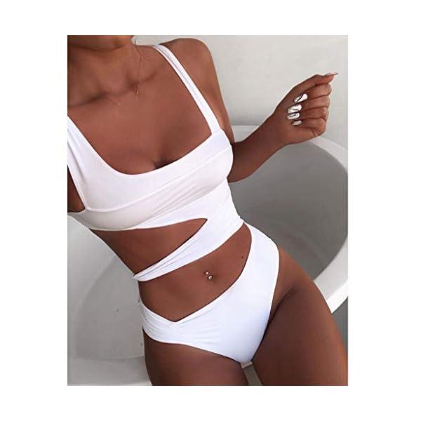 Bikini Donna Brasiliana Stampa Leopardo V-Collo Pezzo Costumi da Bagno Donna Bikini Retro Sexy Body Costume Bandage… 5 spesavip