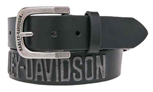 Harley-Davidson Men's Embossed Highway To Hell Leather Belt HDMBT10853-BLK (40)