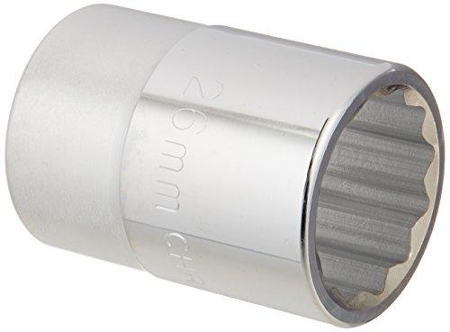 MINTCRAFT MT-SM6026 3/4-Inch 12 Point Socket, 26mm ()