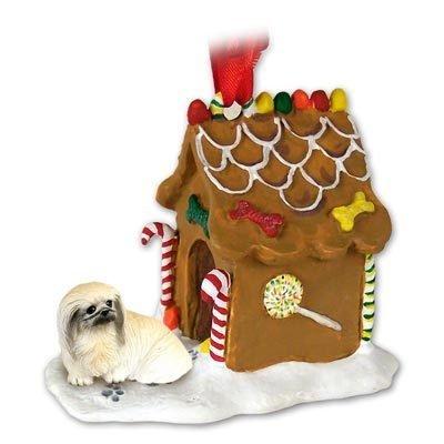 Eyedeal-Figurines-Pekingese-Dog-Gingerbread-House-Christmas-Ornament-New-36