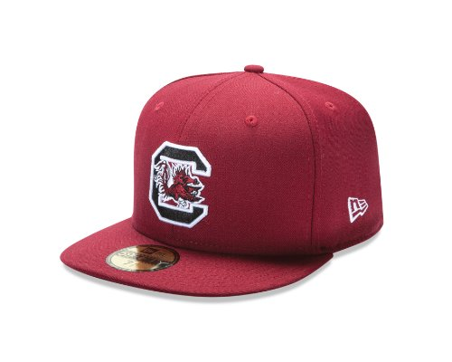 New Era College Baseball Hats - NCAA South Carolina Fighting Gamecocks College 59Fifty, Cardinal Red, 7  5/8