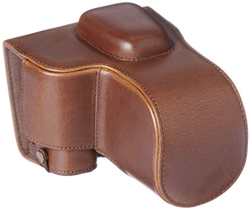 MegaGear MG1536 Nikon D3500 Ever Ready Leather Camera Case and Strap - Dark Brown