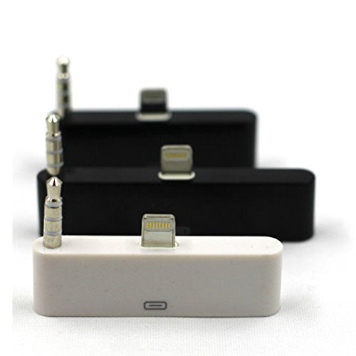 """HIOTECH(TM) 1 Pack 30 Pin to 8 Pin lightning 3.5mm Audio Adapter Converter For iPhone 6 4.7"""" (Black)"""