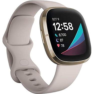 Fitbit-Sense-Smartwatch-avanzado-de-salud-con-herramientas-avanzadas-de-la-salud-del-corazon-gestion-del-estres-y-tendencias-de-temperatura-cutanea-Acero-inoxidable-dorado-con-Alexa-integrada