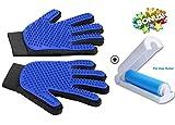 Pet Grooming Gloves Mitts, Pet Deshedding Tool Cat Brushing Glove Hair Removal Pet