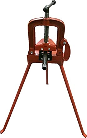 Pipe Table Vice with Tripod Stand Bending Threading Cutting 3u0026quot; Grip HVAC WT2090  sc 1 st  Amazon.com & Pipe Table Vice with Tripod Stand Bending Threading Cutting 3