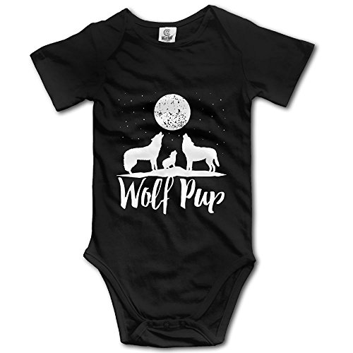 Infant 100% Cotton Short Sleeve Bodysuits Onesies For Wolf Pup Family Of Wolves ()