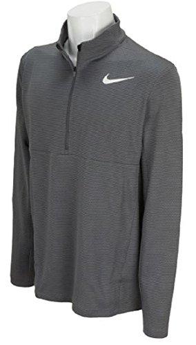 NIKE ナイキ エアロリアクト ウォーム ゴルフウェア ハーフジップ ロングスリーブ 長袖シャツ ジャケット XLサイズ(176-185cm) 国内正規品 854337 ダークグレー