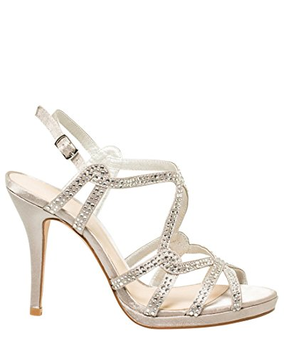 LE CHÂTEAU Jewelled Satin Strappy ()