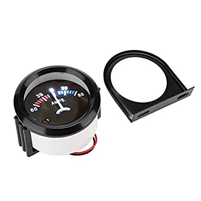 Acouto 12V Ammeter Guage, 2 Inch/ 52mm Car Ammeter Voltmeter 60-0-60A AMP Gauge Volt Meter for Car Vehicles: Automotive