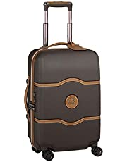 Delsey Paris Chatelet Air 55 cm 4 Double Wheels Cabin Trolley Case Carry-On (Softside), Chocolate (00167280106)