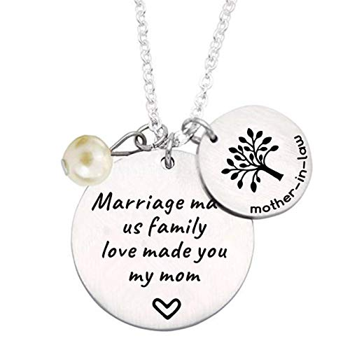 liduola Mother in Law Gift Marriage Made Us Family Love Made You My Mom Family Tree Pendant Necklace Wedding Gifts Mother in Law Gifts from Daughter in Law (My Mother In Law Just Passed Away)